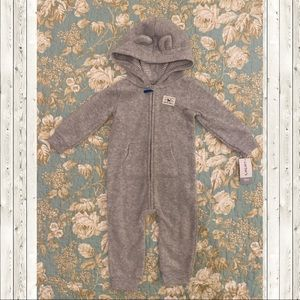 Carter's Hooded Fleece Raccoon unisex 12 mos NWT
